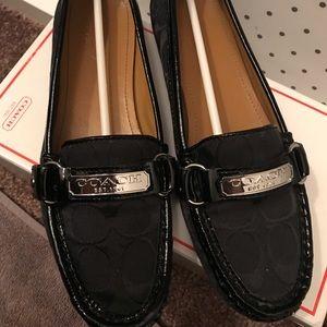Coach women shoe black size 7 loafer Felisha II